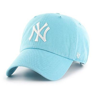 ... coupon 47 brand mlb new york yankees clean up curved v relax fit cap  blue men 3c0438bee409