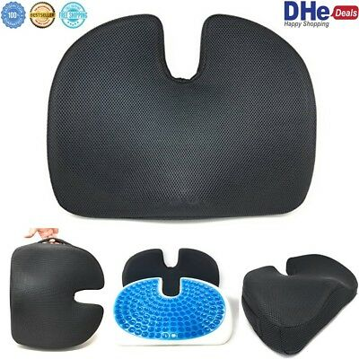 Coccyx Orthopedic Memory Foam Seat Cushion Cooling Gel for Back Pain Support NEW