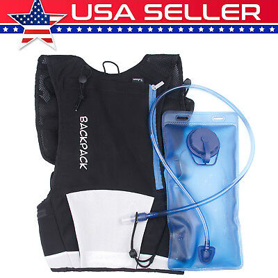 Soft Sports Backpack Hydration Pack Cycling Running Vest + 2L Water Bladder Bag