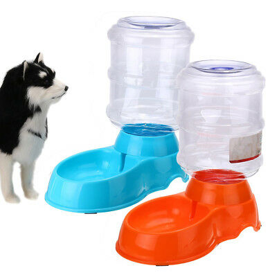 Large Automatic Pet Dog Cat Water Fountain Bowl Bottle Dispenser Plastic 3.8L
