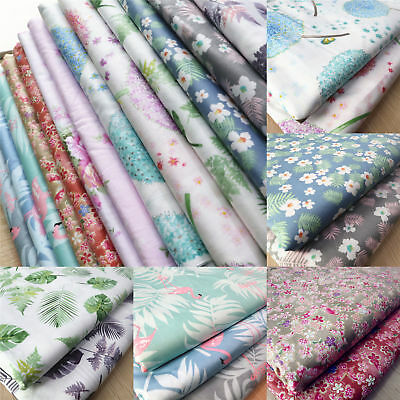 50*50CM 100% Cotton Floral Printed Fabric Soft Quilting Cloth Sewing Crafts Yard