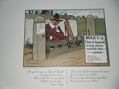 CHARLES CROMBIE 9 Golf / Golfing Cartoons Framed - £4.99 | PicClick on games rules, love rules, fun required pool signs rules, boy rules, teen rules, sports rules, tattoo rules, british rules,