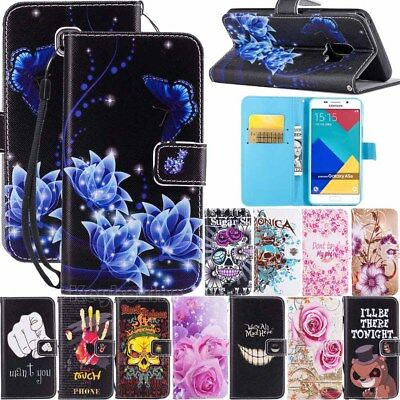 Flip Wallet Leather Card Stand Case Cover Fr Samsung Galaxy A8 A5 S9 S8 J3 J5 J7