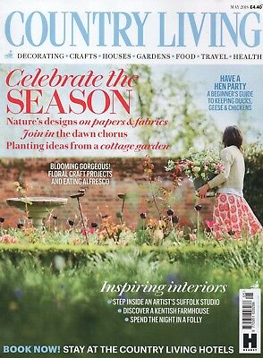 "Country Living Magazine - May  2018 ""Celebrate the season"" (BRAND NEW/SEALED)"