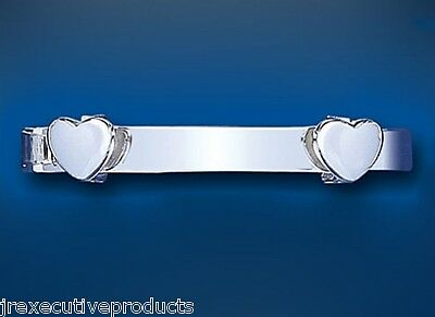 Solid Silver Baby Bangle 18 months - 3 years Expandable Heart Design