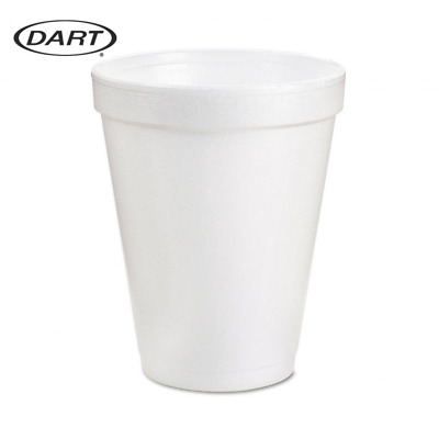 Dart 8 Oz White Disposable Coffee Foam Cups Hot and Cold Drink Cup (Pack of 102)