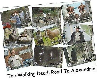 The Walking Dead - Road To Alexandria - 100 Card Basic/Base Set - Topps 2018