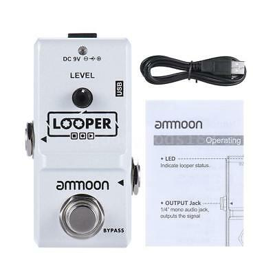 New White Ammoon Nano Loop Electric Guitar Effect Pedal Looper 10 Min Recording
