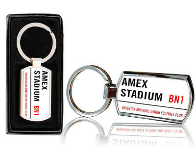 Amex Stadium Printed Chrome Metal Keyring with Free Gift Box
