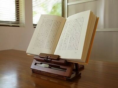 Toyooka Portable Folding Book Rest Stand Rack Holder Ipad Tablet Wooden tracking