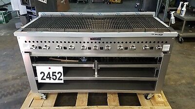 "2452-New-Vulcan 60"" Char-broiler with Wood Assist Base, Model: SMOKER-VCCB60"