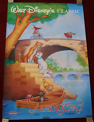 THE ARISTOCATS  Walt Disney Original Polish Movie Poster