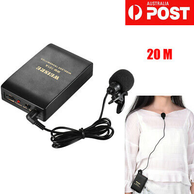 Clip-on FM Wireless Microphone System Voice Amplifier+Transmitter I0R0