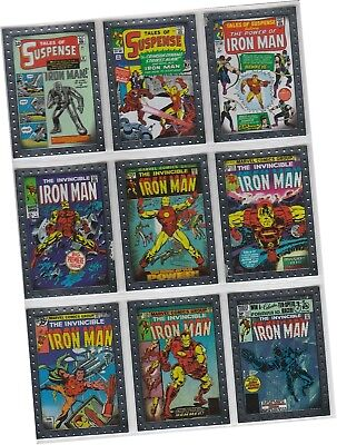 "Iron Man 2 (Two) Movie - 9 Card ""Comic Covers"" Chase Set CC1-9 Upper Deck 2010"