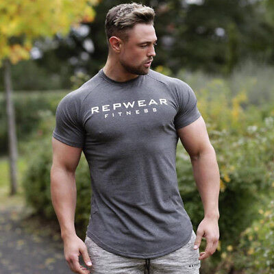Men's Gyms T-shirt Fitness Bodybuilding Workout Tight t shirt Male sexy muscle