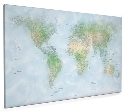 Watercolour political map of the world box canvas and poster print world map on watercolour background box canvas and poster print 140 gumiabroncs Gallery