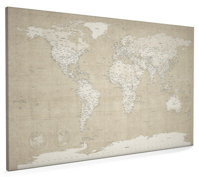 World map antique old style box canvas and poster print 228 world map antique aged style box canvas and poster print 359 gumiabroncs Gallery