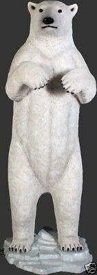 Large Standing Polar Bear Sculpture 7FT - Polar Bear Standing Statue - White