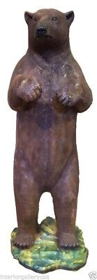 Large Standing Brown Bear Sculpture 7FT - Bear Standing Statue - Brown Bear