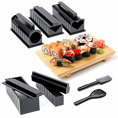 Sushi Making Kit Complete 10 piece Kit, 5 Molds and Utensils DIY Sushi maker