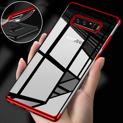 Luxury Clear Silicone Hybrid Case Soft TPU Cover For Samsung A9 A7 2018 Note 9