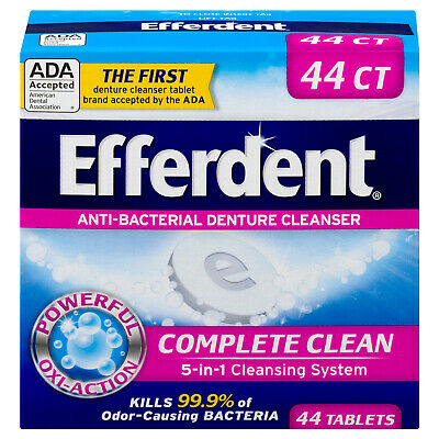 Efferdent Anti-Bacterial Denture Cleanser Tablets, 40 Count (Pack Of 6)