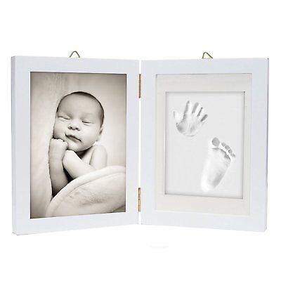 Personalised Baby Hand & Foot Print Frame Kit Soft Imprint Clay For Moulding