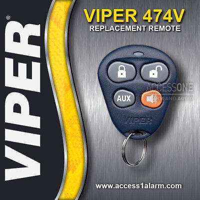 Viper 474V 4-button Replacement Remote Control Transmitter For Viper 100HF 410V