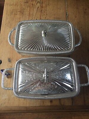 Silver Queen Anne serving dishes