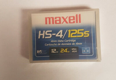 NEW SEALED MAXELL DDS3 4mm DATA Cartridge 125M/12Gb HS4/125S