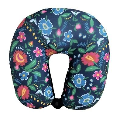 New Style Print U Shaped Micro-Bead Travel Flower Pillow Neck Support Cushion