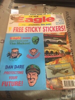 The New Eagle Comic, 5th May 1990! Dan Dare! With Stickers Gift! (77)
