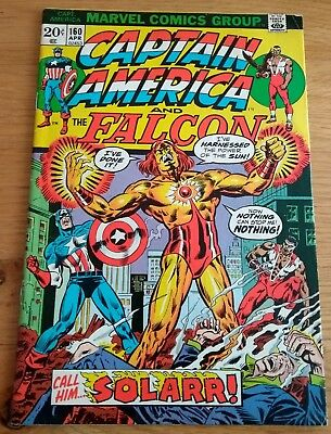 Vintage Marvel Comic Book Captain America and The Falcon # 160 1973