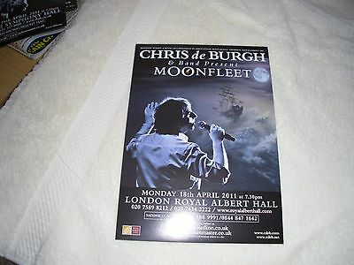 chris de burgh & band present moonfleet 2011 promotional  flyer with tour dates