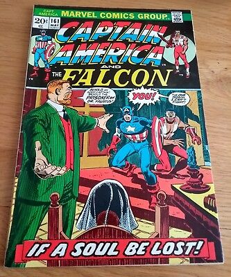 Vintage Marvel Comic Book Captain America and The Falcon # 161 1973