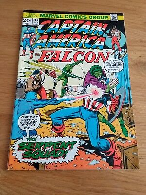 Vintage Marvel Comic Book Captain America and The Falcon # 163 1973