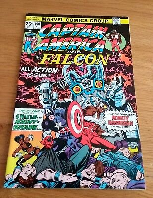 Vintage Marvel Comic Book Captain America and The Falcon # 190 1975