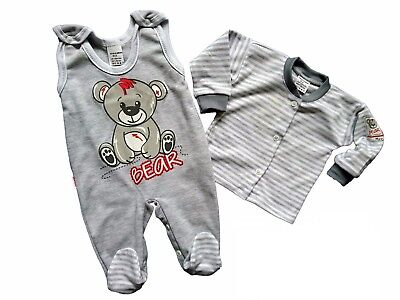 BNWT Baby Toddler Boys/Girls GREY 2 Pieces* Outfit *Set *100% COTTON* 6-9 Months