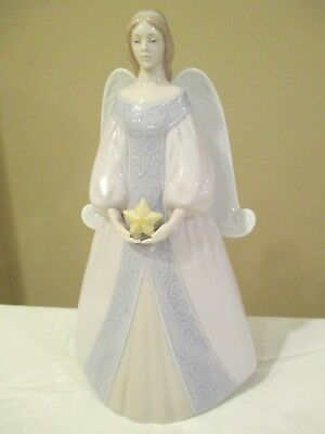 "Lladro Angel Tree Topper STAR Cantana 9 1/2"" Tall - Lovely"
