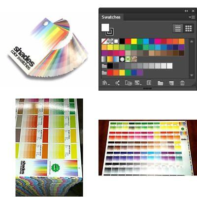 Shades Color Swatches Coated & Uncoated CMYK Process System Guide Guides Pantone