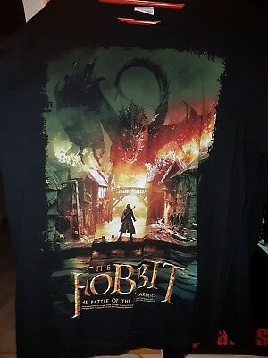 Der Hobbit - The Battle of The Five Armies Logoshirt ( T-Shirt, M ), gebraucht