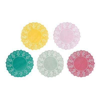 100 Talking Tables Assorted Floral Fiesta Bright Colour Mini Doilies