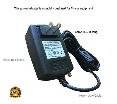 AC Power Adapter for Livestrong Elliptical LS8.0E-C2 - EP573C Traditional - 2013