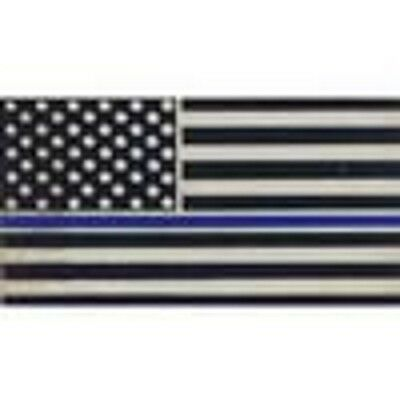 THIN BLUE LINE U.S. AMERICAN FLAG Lapel Pin BLUE LIVES MATTER SUPPORT POLICE