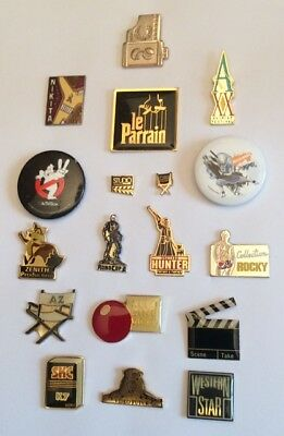 Lot 16 Pin's + 2 Brooch Cinéma Film Movie Avatar Ghostbusters Cannes  Rocky