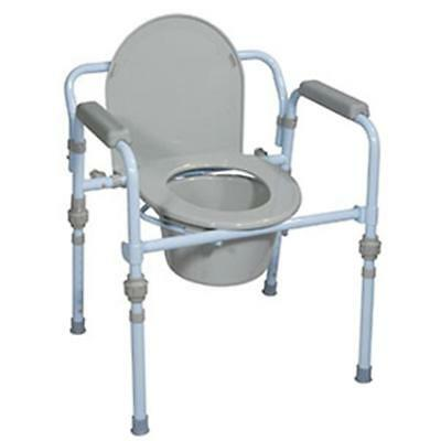NEW DRIVE MEDICAL 763Xzm1 1 EA Folding Steel Commode RTL11148KDR