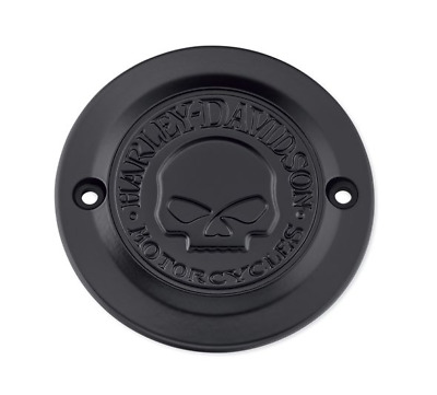 Harley points timer cover willie g skull black sportster xl iron 883 1200 custom