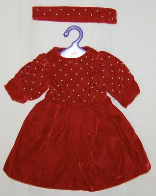 Magic Attic Chloe Holiday Dress Red with Pearls Outfit. New. Rare. Retired.