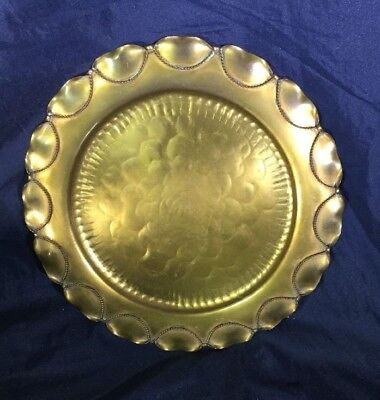 VINTAGE GREGORIAN HAND Hammered Copper Tray - Decorative Wall Plate ...