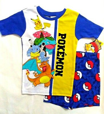 1150f3ceb8 POKEMON BOYS 2 pc Top Shirt Shorts Pajama Set NWT Size 6